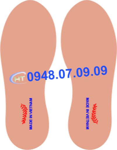 nhãn ép nhiệt lót giày